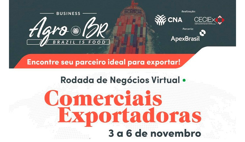 CNA promotes a business roundtable on the Agro.Br project in November